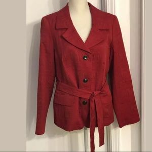 Marina Rinaldi women's belted jacket size L Red